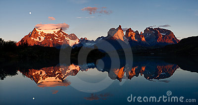 Sunrise at Torres del Paine National Park, Chile