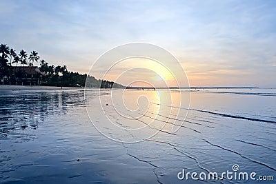 Sunrise on a tropical beach
