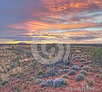 Sunrise at Uluru Editorial Image