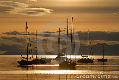 Sunrise in Ushuaia, South America, Argentina