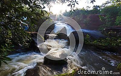 Sunrise waterfall