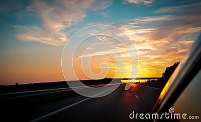 Sunrise on the way