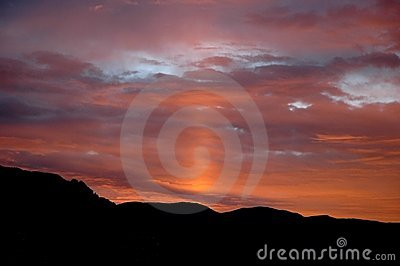Sunrise with zodiacal light