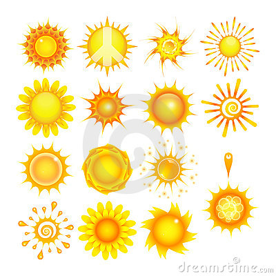 Suns Collection Royalty Free Stock Photos - Image: 20857398