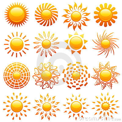 Free Suns. Elements For Design. Royalty Free Stock Image - 6390556