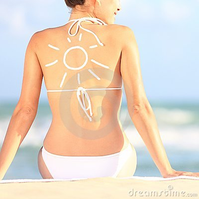 Free Sunscreen / Sun Tan Lotion Royalty Free Stock Images - 24255019