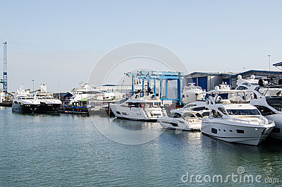 Sunseeker Boatyard, Poole Editorial Image