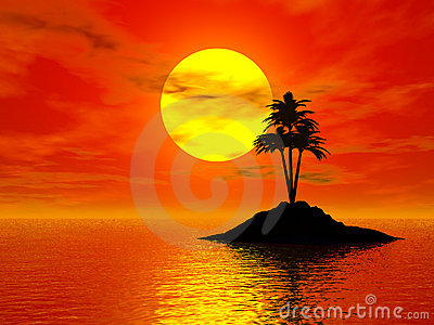 Sunset 3d Photo Stock Photography - Image: 2216832