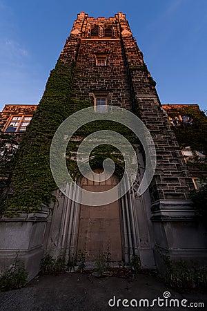 Free Sunset - Abandoned Saint Philomena School, East Cleveland, Ohio Stock Image - 103007641