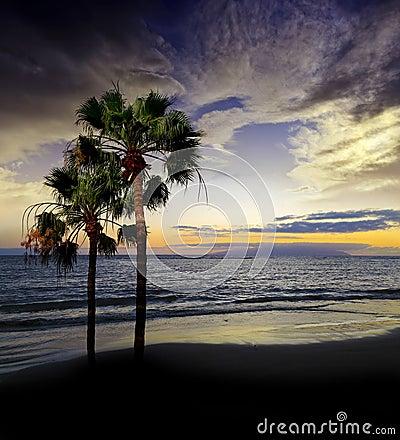 Sunset above ocean