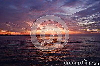 Sunset in Adriatic
