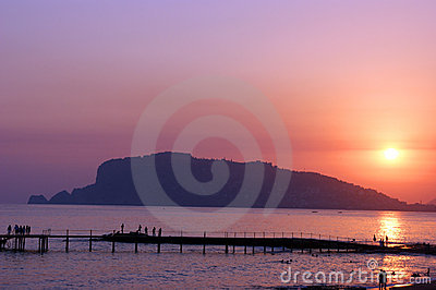 Sunset in Alanya