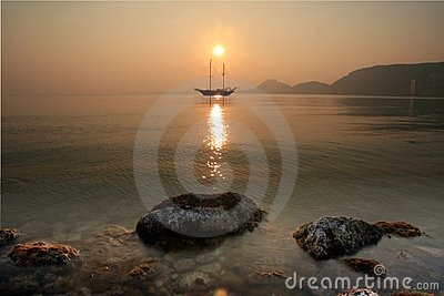 Sunset in Alicante Bay