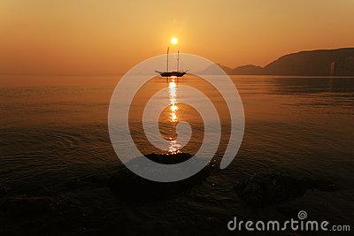 Sunset in Alicante Bay