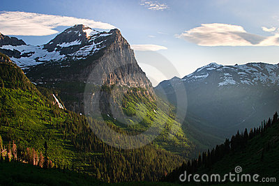 Sunset along Going to the Sun Road, Glacier