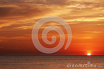 Sunset in andaman sea