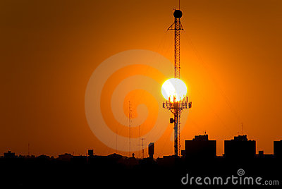 The Sunset and the Antenna