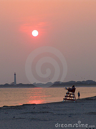 Free Sunset At Cape May Stock Images - 216664