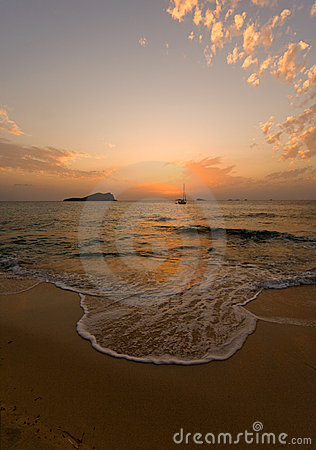 Free Sunset At Ibiza Beach Stock Images - 3590944