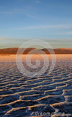 Free Sunset At Salt Flats Royalty Free Stock Photography - 3466797
