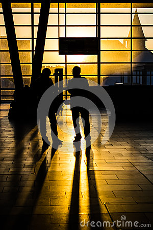 Free Sunset At Trainstation Royalty Free Stock Photo - 38336125