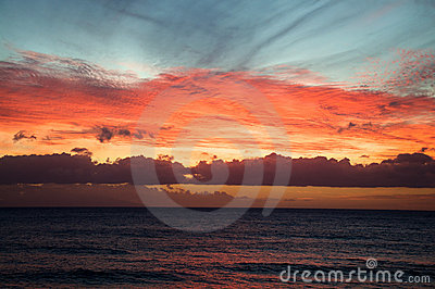 Sunset in the Atlantic Ocean