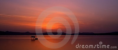 Sunset in Balaton
