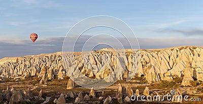 Sunset Balloon Ride in Cappadocia, Turkey Editorial Photography