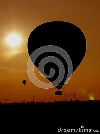 Sunset of balloons
