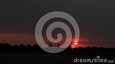 Sunset at Baneasa Airport