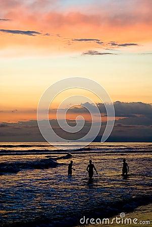 Sunset bath