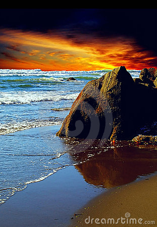 Free Sunset Beach Royalty Free Stock Photo - 10321865