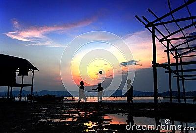Sunset Beach Ball