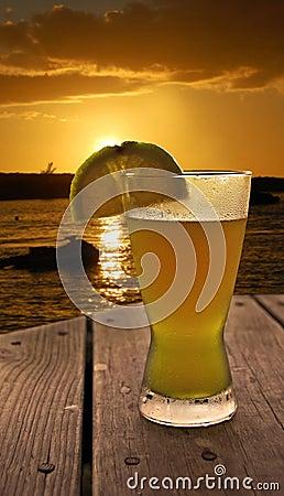 Sunset at the Beach Bar
