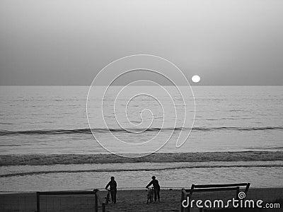 Sunset Beach Cyclists