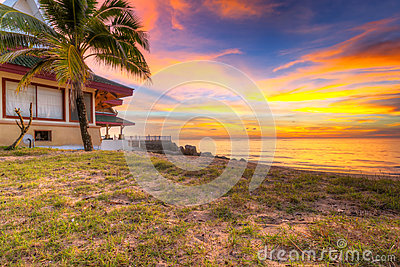 Sunset on the beach of Koh Kho Khao island