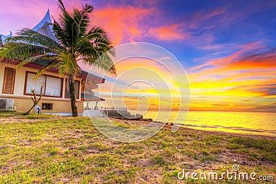 Sunset on the beach of Koh Kho Khao island
