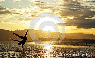 Sunset Beach Silhouette
