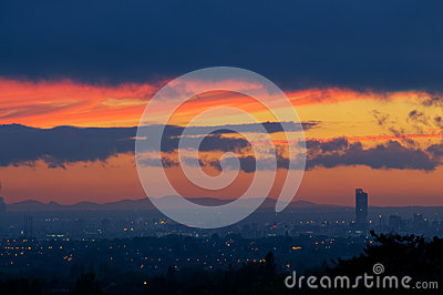 Sunset Beetham tower manchester
