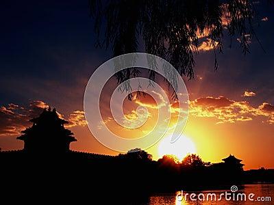 Sunset in Beijing