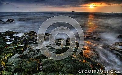 Sunset of Big island