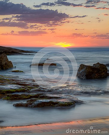 Sunset  at Birubi Beach, Australia
