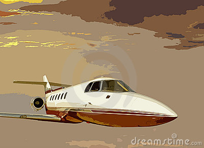 Sunset bizjet
