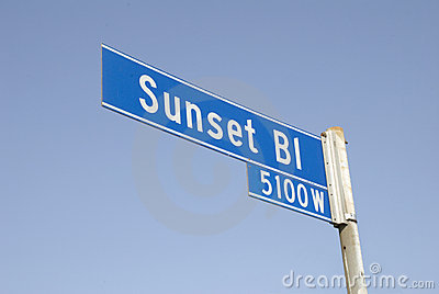 Sunset Blvd Street Sign 2