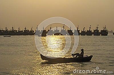 Sunset - boating