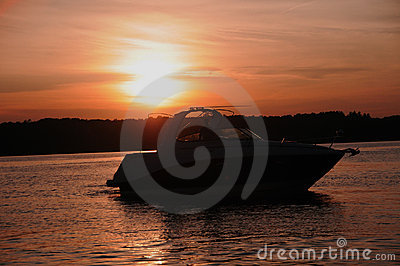 Sunset Boating In Kentucky
