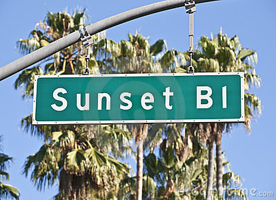 Sunset Boulevard Sign