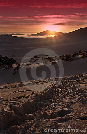 Sunset in Bucegi