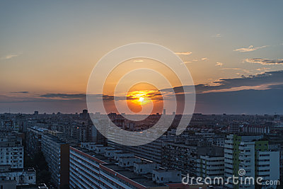 Sunset in Bucharest