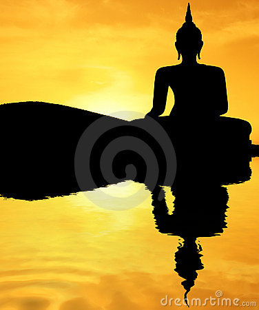 Free Sunset Buddha Royalty Free Stock Photography - 2221817
